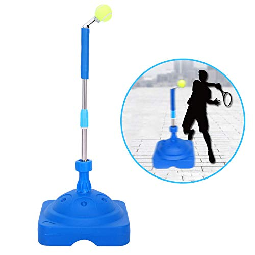 (Fantaxdic Tennis Trainer Aid for Child Adult Tennis Training Partner for Beginners Holder Tennis Ball Self-Study Practice Tool Equipment Sport Exercise with 2 Balls Holder)