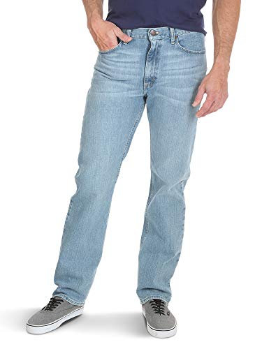 Wrangler Authentics Men's Classic 5-Pocket Regular Fit Flex Jean, Stonewash, 38W x 30L