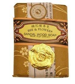 Flower Sandalwood Soap - Bee & Flower - Chinese Sandalwood Soap 2.65oz - 12/case