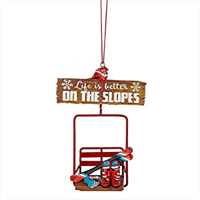 """Midwest-CBK 5"""" Life Is Better On The Slopes Christmas Ornament 150386"""