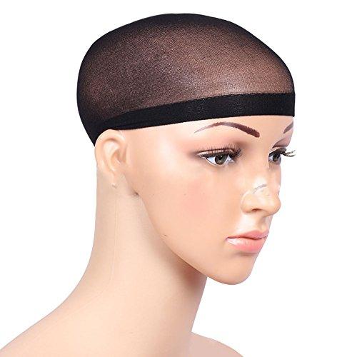 Qingsun Black Hair Wig Weaving Stretchable Net Mesh Fishnet Elastic Snood (Sun Wigs)