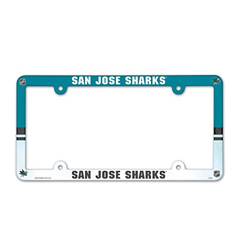 Nhl License Plates Plate - WinCraft NHL San Jose Sharks License Plate with Full Color Frame
