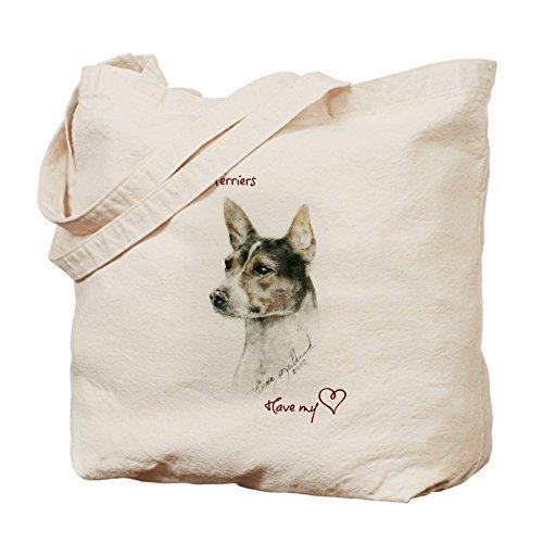 Rat Terrierハート – コットンキャンバスショッピングバッグ、トートバッグバッグDesigned by leiacikl22 B078W6WMDC