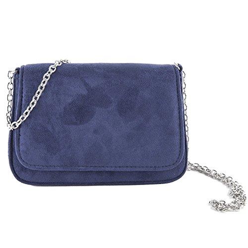 Cecere Bleu Sac faux d'embrayage cuir ACX625BLU Eugenia Anna 6F4wqqd
