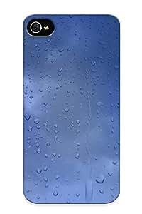 New Tpu Hard Case Premium Iphone 4/4s Skin Case Cover(rainy Window ) For Christmas Gift