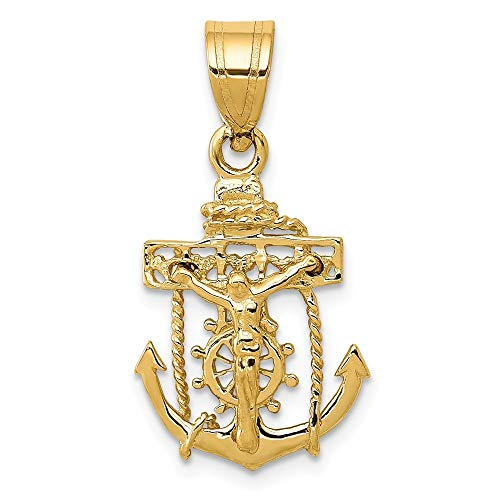 - 14K Yellow Gold Mariners Cross Pendant from Roy Rose Jewelry