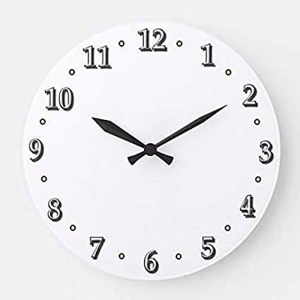 Amazon Com Pottelove White Numbers Clock Face Template Wooden