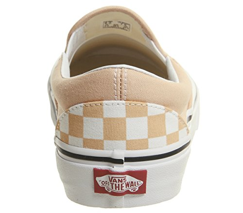 Checkerboard Bleached on Baskets True Femme White Classic Slip Enfiler Vans Apricot x4wqYafW