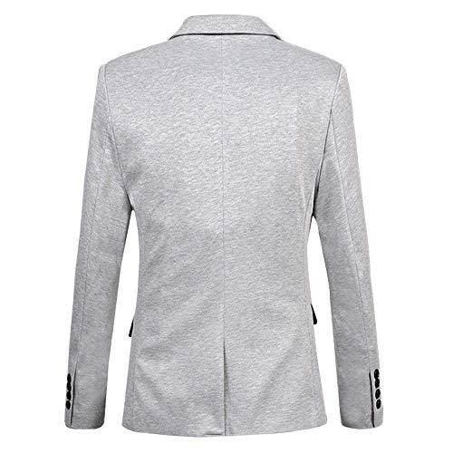 Bouton Blazer À Veste De D'été Mince Blanc Coupe Mariage Costume Manches 1 Longues Partie Élégante Confortable Vintage Rpq6vW