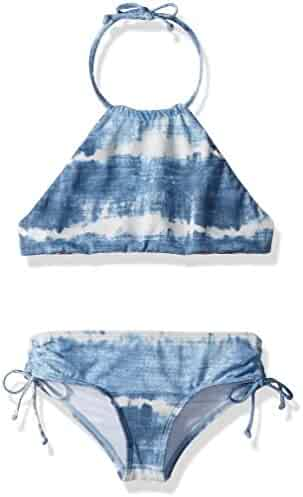 Billabong Girls' LIL Bliss High Neck Two Piece Swimsuit Set