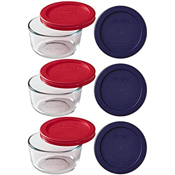 Pyrex 9-Piece Glass Food Storage Set with 2 Color Lids