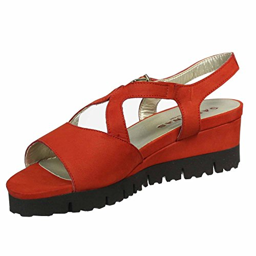 Mikonos Nubuck Red Red 9 Sandals Black Womens Leather Sabrinas PgwqTP