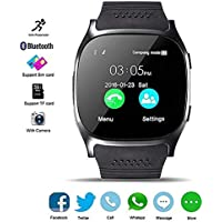 MyTECH Bluetooth Smart Watch Fitness Tracker, multifuncion Reloj Inteligente smartwatch T8 (Negro)
