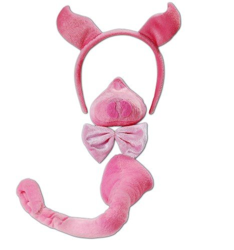 [Pig Farm Animal Fancy Dress Accessory Kit With Sound] (Pig Costume Nose Ears Tail)