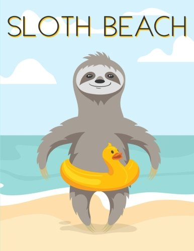 Sloth Beach: Notebook (Journal, Composition Book) (8.5 X 11 Large) - 110