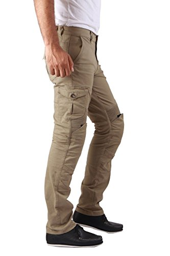 34d7740390199 Force Riders Men's Motorcycle Cargo Trousers with Dupont™ Kevlar® Lining -  Khaki/TAN