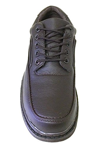 D-816 Heren Wandelschoenen Oxfords Casual Comfort Lace Up Sneakers Wandelaar, Zwart, Bruin Bruin