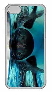 Customized iphone 5C PC Transparent Case - Under The Water Personalized Cover