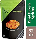 Nut Cravings Dried Turkish Apricots (2 Pounds) – Sweet, Healthy Dehydrated Fruit Snacks with No Sugar Added – 32 Ounce