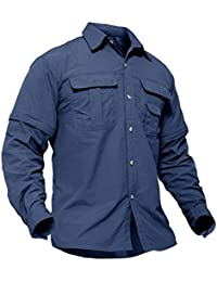 9cc3a874 Men's Breathable Quick Dry UV Protection Solid Long Sleeve Shirt