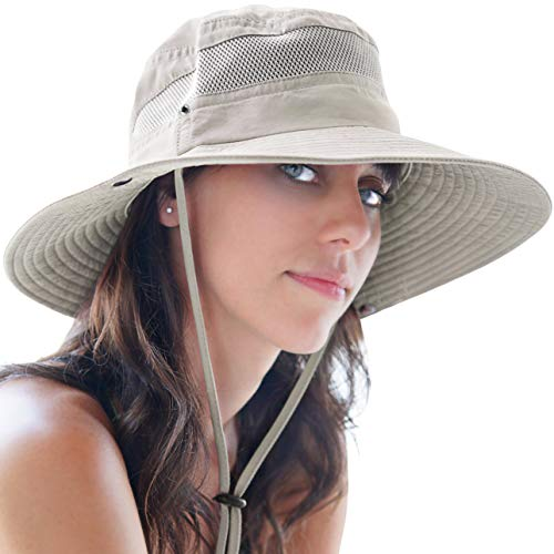 GearTOP Sun Hats for Women and Men | This Summer Cap is Your Best Choice for Sun Protection (Beige Fishing Hat) (Best Sun Hat For Hiking)