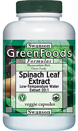 Swanson Spinach Leaf Extract 20:1 650 mg 60 Veg -