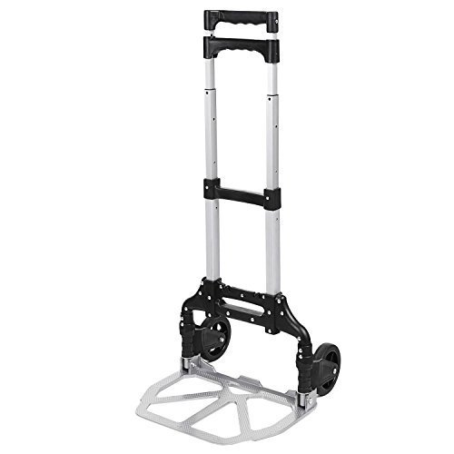 Evokem Portable Folding Hand Truck Dolly Luggage Carts, 150 lbs Capacity, for Industrial Travel Shopping Transportation