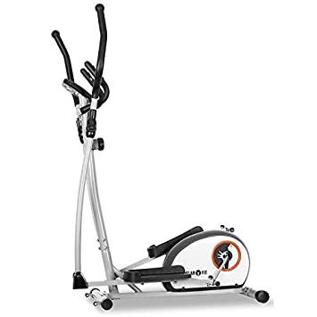Klarfit ELLIFIT Basic 10 Cross Trainer Bicicleta estática Incluye trainigs Computer (8 Niveles de Resistencia, pulsómetro/Pantalla Consumo de ...