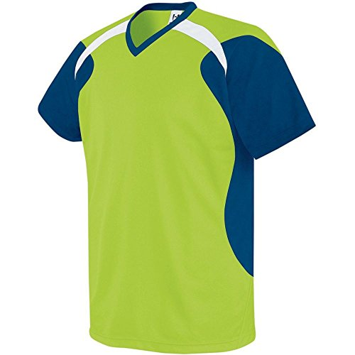 High Five Sportswear - High Five Sportswear High Five Tempest Jersey-Adult,Lime/Navy/White,Small