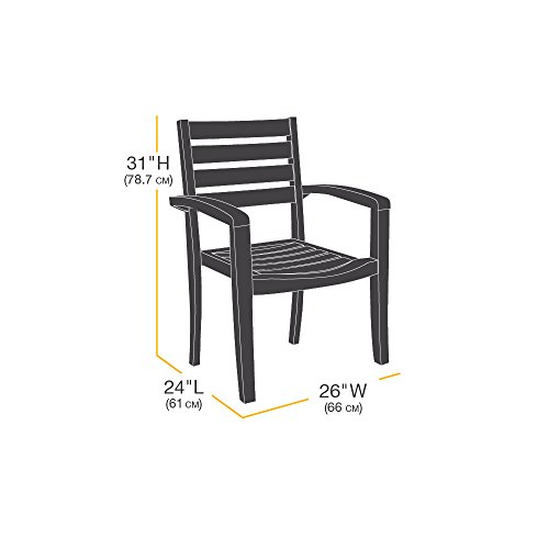 amazonbasics dining arm chair patio cover set of 2 buy