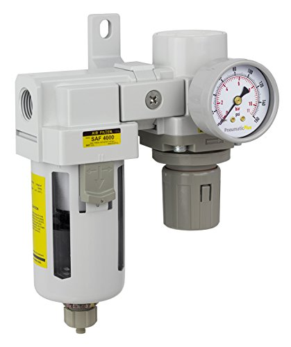 PneumaticPlus SAU4020M-N04G Compressed Air Filter Regulator Modular Combo 1/2