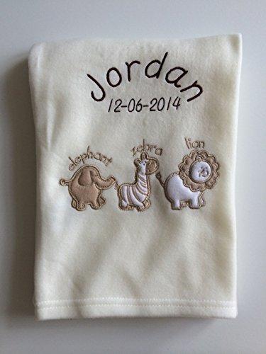Personalised Aninmal Baby Blanket