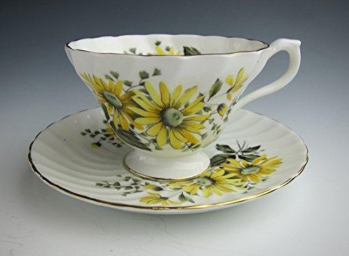 Aynsley China (Yellow Daisies) Cup & Saucer Set - Tableware China Aynsley