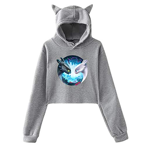 Huanghsf Toothless (How to Train Your Dragon 3) Womans Popular Sweater Hoodie M Gray