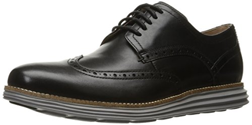 (Cole Haan Men's Original Grand Shortwing Oxford Shoe, Black Leather/Ironstone, 11 Medium US)