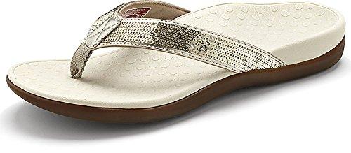 Toe Women's Sequins Gold Post Tide Sandal Vionic wP7qFfxt