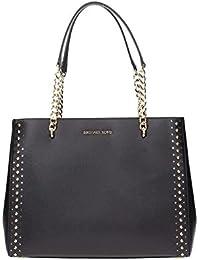 Women's ELLIS Large Studded Leather TOTE Handbag