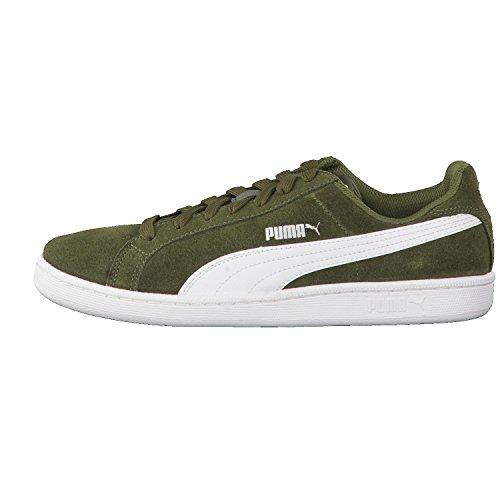 Puma Smashsd - Tobillo bajo Unisex adulto Verde (Olive Night-white)