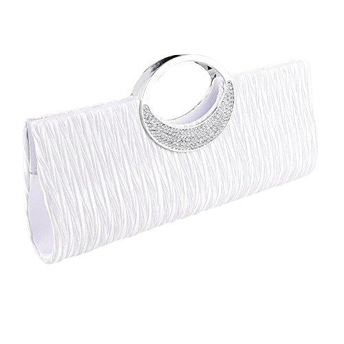 Del Bolsa Del Noche Partido Blanco De Las De De Bismarckbeer Monedero Lujo Diamantes Embrague De Mujeres Bolso Del Imitación De aWwOU