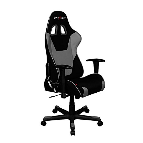 DXRacer Formula Series OH/FD101/NG Racing Seat Office Chair Gaming Ergonomic Adjustable Computer Chair with - Includes Head and Lumbar Support Pillows (Black/Gray)