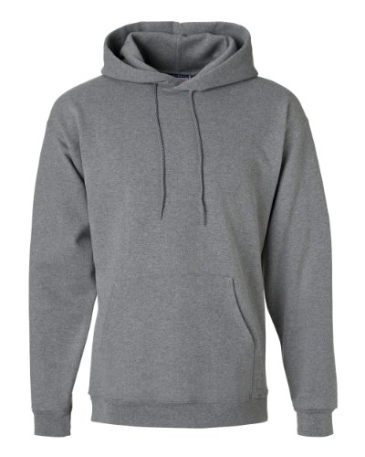 Hanes Jersey Sweatshirt (Hanes Men's Ultimate Cotton Pullover Hood, Heather Grey, Size Large)