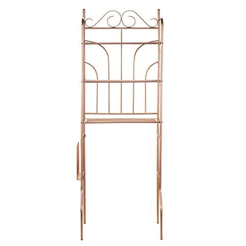 3 Piece Bath Storage Set - Rubbed Copper Painted Bronze Finish - Versatile Storage