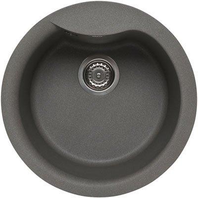 Elleci Ego Round Metaltek Waschbecken Runde Spüle Granit Einbau ...