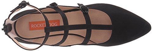 Rocket Dog Women's Jaz Coast Fabric Pointed Toe Flat, Burdundy Boxed in, 6 M US Black