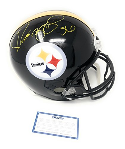 Jerome Bettis Pittsburgh Steelers Signed Autograph Full Size Helmet Steiner Sports Certified ()