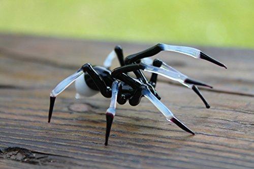 Glass Spider Figurine, Blown Glass Spider, Spider hallowee figurine glass insect Art Glass Spider blown glass figurine Spider glass insects