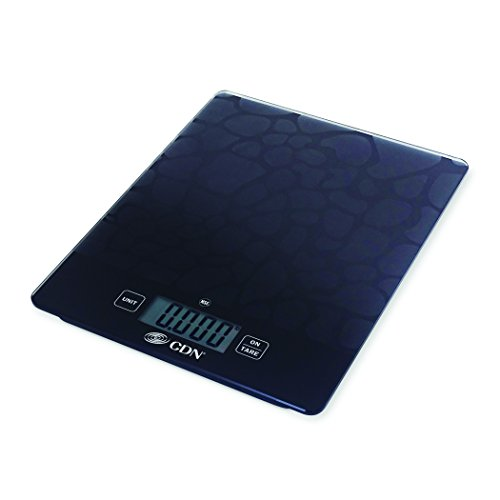 CDN SD1102-X - Digital Glass Scale - Sandblast, 11 lb, - Kitchen Food Scale (Glasses Status Com Order)
