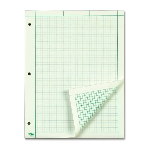 Wholesale CASE of 20 - Tops Engineering Computation Pad-Engineering Comp Pads, 3HP,Rld,100 Sh,8-1/2''x11'',GN