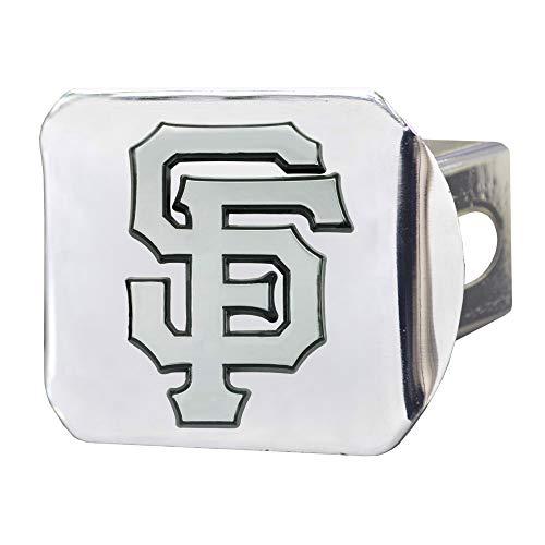 (SLS FANMats San Francisco Giants Premium Metal Chrome Hitch Cover Bumper Trailer Baseball)