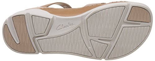 Clarks Tri Ariana - Sandalias de tobillo Mujer Marrón (Tan Combi)